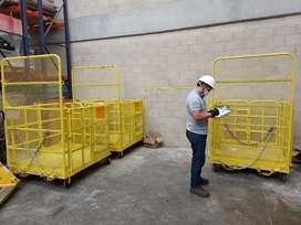 Proceso de certificación de Canastillas  de carga