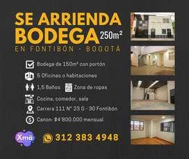 BODEGA EN ARRIENDO 250m² EN FONTIBÓN