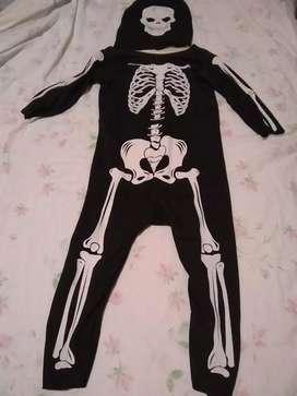 Disfraz de niño de esqueleto