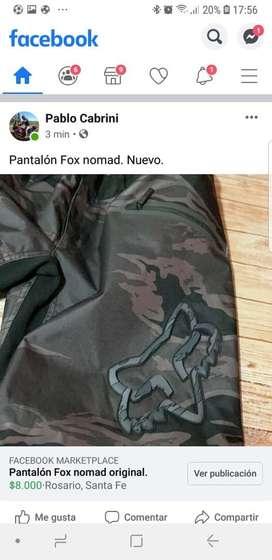 Pantalon fox nomad con protecciones. Nuevo sin uso.