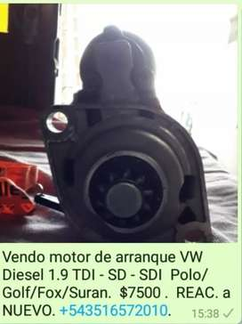 Motor de arranque VW Polo Diesel