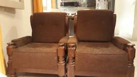 Juego de 3 sillones tapizados