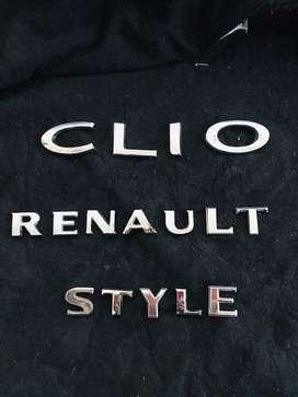 Emblemas Originales Renault Clio