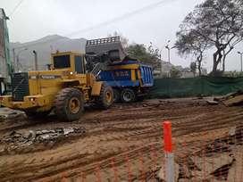 Se alquila retro excavadora bobcat cargador frontal movimiento de tierras eliminación de desmonte afirmado arena gruesa