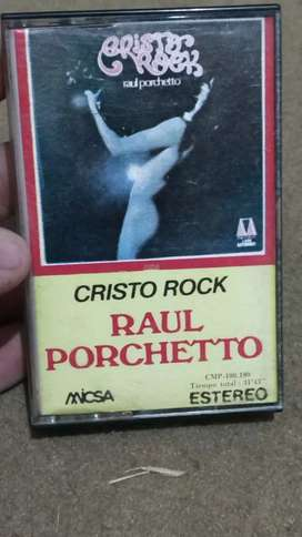 Casette Raúl Porchetto - Cristo Rock