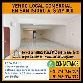 VENDO LOCAL COMERCIAL san isidro