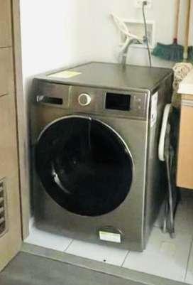 Lavadora secadora Haceb F1200 de 24 libras gris