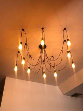 Lamparas pulpo con bombillas edison