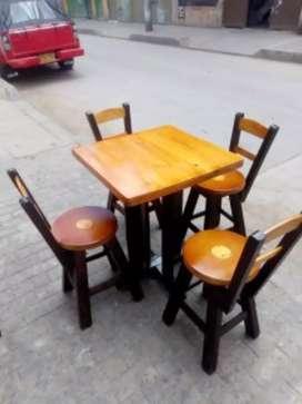 Mesas en Madera para Bar Restaurante