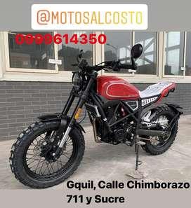 Moto Daytona Scrambler Revolution 250cc con Radiador