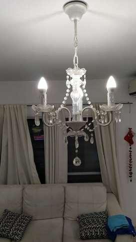 Vendo lámpara araña de vidrio!
