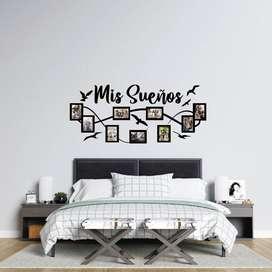 Vinilo Decorativo MIS SUEÑOS con Marcos Individuales para tu hogar