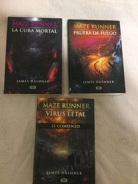 3 Libros Maze Runner - Originales