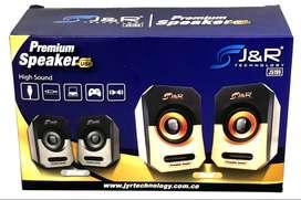 Parlantes para Pc J&R X2 calidad de sonido