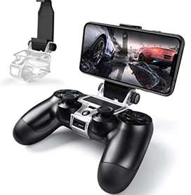 Base celular para control PS4. Mobile phone clamp