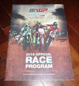 REVISTA PROGRAMA OFICIAL GP MOTOCROSS WORLD CHAMPIONSHIP ARGENTINA 2015 VILLA LA ANGOSTURA