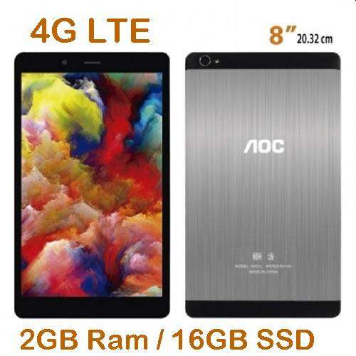 "TABLET AOC 4G LTE A831L-D 8"" HD 2GB 16GB METAL GRIS 0"