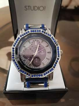 Reloj de mujer marca Ice King, Color azul con plateado