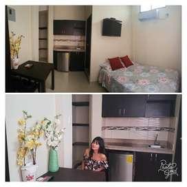 Alquiler Mini Suites Full Amobladas servicios tipo Hotel Riocentro Norte Parque Samanes