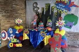 Animación, fiestas, recreación, sonido, decoraciones, eventos, payasos