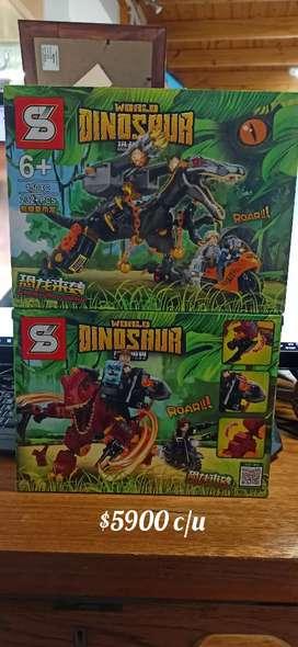 Word dinosaur símil lego