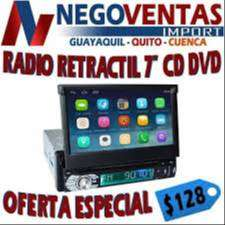 "RADIO RETRACTIL 7""CD DVD"