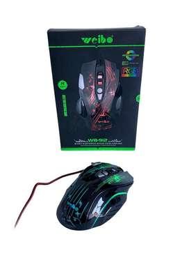 Mouse de cable retroiluminado weibo WB-912