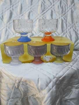 Copas de Postre X 6 Pie Color