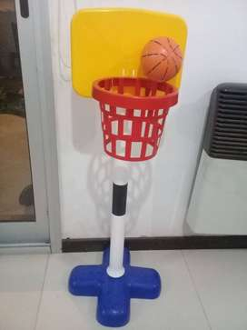 Aro De Basket Infantil C/ Pelota Y Red RONDI Jump Shot Juguete