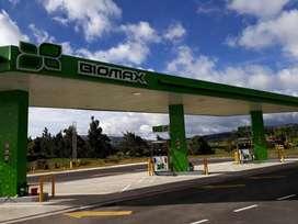Estación de servicio casi nueva, venta de gasolina común, extra y diesel