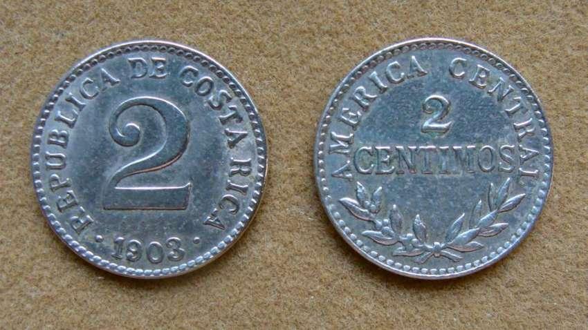 Moneda de 2 céntimos Costa Rica 1903 0