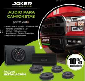 Audio para Camionetas powerbass Aceptamos Tarjeta