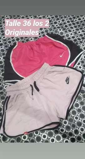 Shorts y pollera
