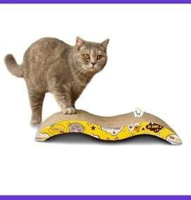Rascador gatos anti estrés cartón corrugado