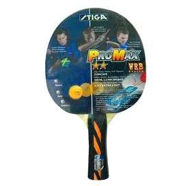 Raqueta Paleta Stiga Promax 2 Estrellas Tenis De Mesa Ping Pong