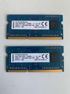 Memoria Ram DDR3L 4GB KINGSTON