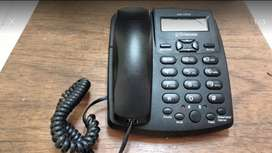 TELEFONO FIJO COLOR NEGRO NUEVO