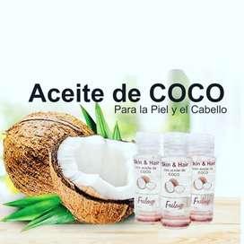 Aceite de coco para cabello y cuerpo. Concentrado