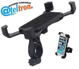 Soportes bases de celular para motos, bicicletas, máquinas de ejercicios y otros.