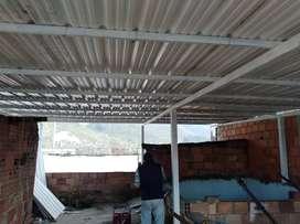 Fabricamos cubiertas, techos, rejas, ventanas y demas
