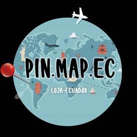 Mapa para fijar tus viajes realizados o los que vas a realizar por Ecuador o por el mundo.