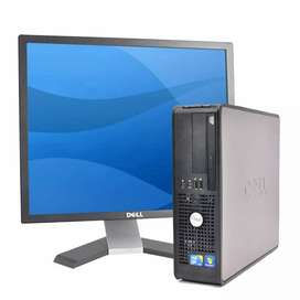 Promoción computadoras dell intel core 2 duo ddr3 con monitor teclado mauso garantía