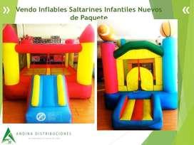 Vendo Inflables Saltarines Infantiles Nuevos de Paquete Incluye Plan De Asistencia 6 En 1