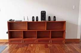Mueble de madera cedro grande , 7 divisiones con zapatera