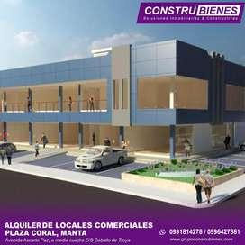 Se alquilan locales a estrenar en Manta, nueva Plaza Comercial