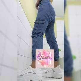 Jogger cargo oversizes Jeans