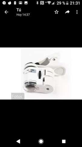 Lupa Microscopio 60x Clip Celular