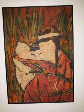 Obra de Arte  Madre con Niño en Brazos