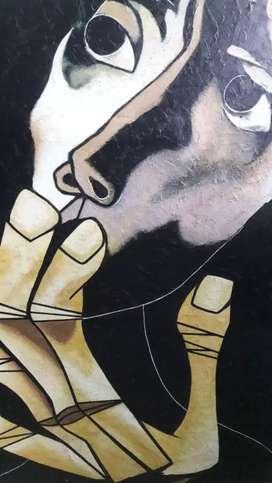 Cuadro de cabeza y manos de Oswaldo guayasamin negociable