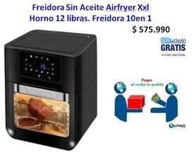 Freidora Sin Aceite Airfryer Xxl  Horno 12 libras. Freidora 10 en 1